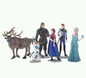 Discoball Frozen Figures Play Doll 6pcs Play Set Princess Elsa Anna Hans Kristoff Sven Olaf Cake Topper Decoration UK