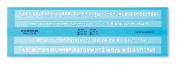 Staedtler Mars 572 FL Writing Stencil 3.5 mm and 5 mm Transparent Blue