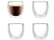 250ml Double Walled Clear Glass Borosilicate Tea/Espresso Cup Coffee