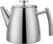 Grunwerg Cafe Ole Double Walled Stainless Steel Teapot 1.2L 1180ml HTP-12DW