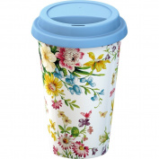 Creative Tops Katie Alice English Garden Insulated Porcelain Eco Travel Mug with Lid