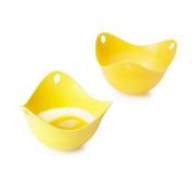 Yellow Poachpod Silicone Egg Poachers x 2