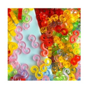 GoldenTM-NEW Amazing Loom Bands Pack of 125 Colourful S-Clips BZ0018