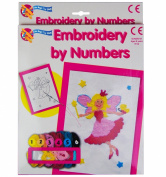 Embroidery by Numbers Cross Stitch Sewing Art Set Childrens Kids Craft Kit