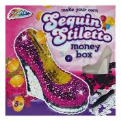Grafix Make Your Own Sequin Glamour Stiletto Shoe Money Box Toy