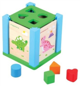 Lelin Wooden Dino Puzzle and Shape Sorter