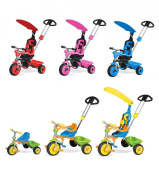 CHILDRENS TRIKE 3 IN 1 WITH CANOPY & SAFETY GUARD - BLUE