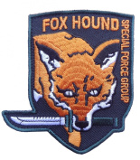 Metal Gear Fox Hound Foxhound Special Force Original Logo embroidered patches appliques iron on patches