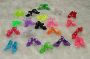 Domire 40 Pairs of Doll Shoes Fit Barbie Dolls