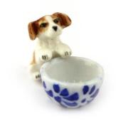 MyTinyWorld Dolls House Miniature Ceramic Begging Jack Russell Puppy