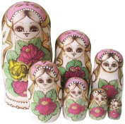 NuoYa005 7pcs Russian Nesting Doll Handmade Wooden Dried basswood Doll Toy Christmas gift for Children toy Russian dolls