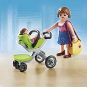Playmobil Mother with Infant Stroller 5491