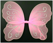 Small Pink Butterfly Angel Glitter Fairy Wings for girls / children