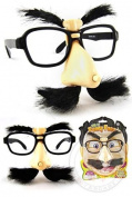 Funny Face Glasses WInd Up Wiggles Includes Claw Sticker