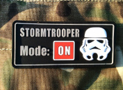 Stormtrooper Mode ON Airsoft hook and loop PVC Patch