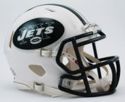 OFFICIAL NFL NEW YORK JETS MINI SPEED AMERICAN FOOTBALL HELMET BY RIDDELL