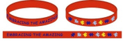 Red Autism 'Embracing The Amazing' Wristband