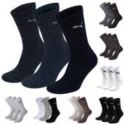 Puma Sports Socks - Unisex Crew 3P Pack - Three Pair Packs Of Plain/Mix UK Sizes 2.5 up to 14
