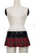Dear-lover Women's Hot Zipper Plaid Skirt
