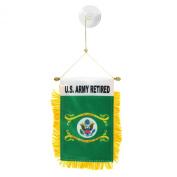 U.S. Army Retired Mini Window Banner