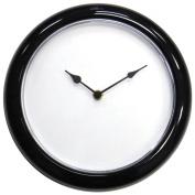 Make A Face 25cm Clock Kit-Black W/Clear Lense
