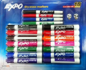 Expo Chisel & Fine Tip Low Odour Dry Erase Markers 18 Pack