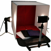 BlueDot Trading photo-light-box-small Trading-Photo Tabletop Studio Light 16-Inch/40cm Tent Box Kit with 2 Lamps and Camera Stand - Small