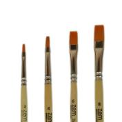 Student Golden Synthetic Shader Brushes Set Sizes 2,4,6,8