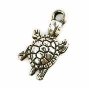 Aoneitem 30pcs Tibetan Silver Turtle Tortoise Animal Charms Findings