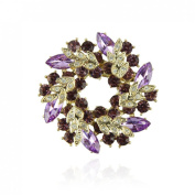 Voberry® Women's Fashion Quality Accessories crystal Brooch Circle flower Pin Brooch