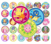 60 Precut 2.5cm BACKYARDIGANS Bottle Cap Images A