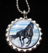 3.8lOPING HORSE Bottle Cap NECKLACE for Birthday Party Favour FLAT15