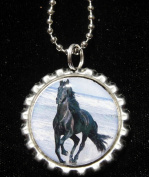 3.8lOPING HORSE Bottle Cap NECKLACE for Birthday Party Favour FLAT12