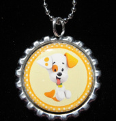 1 BUBBLE GUPPIES PUPPIES Bottle Cap NECKLACE for Birthday Party Favour FLAT9
