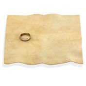 15cm x 15cm Leather Jeweller's Polishing Cloth - Sheepskin, Chamois - Buff Jewellery