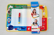 1pcs /Lot 45*29cm American Aquadoodle Aqua Doodle Drawing Mat & 1 Magic Pen/water Drawing Replacement Mat