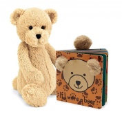 Jellycat® If I were a Bear Baby Touch and Feel Book and Bashful Bear Stuffed Animal Bundle