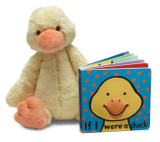Jellycat® If I were a Duck Baby Touch and Feel Book and Bashful Duck Stuffed Animal Bundle