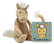 Jellycat® If I were a Pony Baby Touch and Feel Book and Bashful Palomino Pony Stuffed Animal Bundle