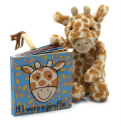 Jellycat® If I were a Giraffe Baby Touch and Feel Book and Bashful Giraffe Stuffed Animal Bundle