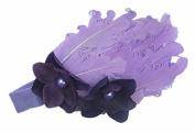 Colourful Baby's headband Girl's headwear Feather Chirsmas-purple