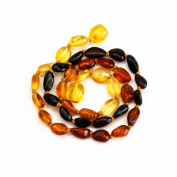 Multicolor Amber Teething Handmade Knotted Necklace for You Baby
