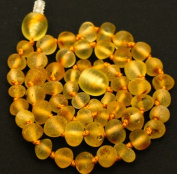 2 Raw Sea Baltic Amber Teething Handmade Knotted Necklaces for Your Baby