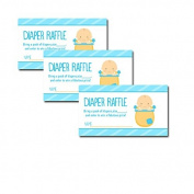 Baby in Flower Pot Blue Boy Baby Shower Nappy Raffle Tickets 20-pack