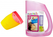 Aqueduck Bath Faucet Extender with Shampoo Rinser, Pink/Pink