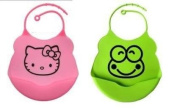 2 Pcs Best Soft Baby Bibs . Elegant Design, Flexible and Waterproof. Stunning Colour Options. The Catch Pocket Makes for an Enjoyable Feedtime and Less Messy Cleanup. Adjustable for Your Growing Baby, Toddler or Infant.by King's Deal