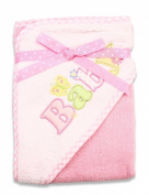 Spasilk 100% Cotton Hooded Terry Bath Towel, Pink