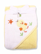 Spasilk 100% Cotton Hooded Terry Bath Towel, Yellow Duck