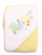 Spasilk 100% Cotton Hooded Terry Bath Towel, Yellow