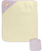 "Hudson Baby ""Owl"" Hooded Towel & Washcloth Set - purple, one size"